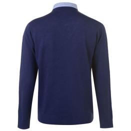 Pierre Cardin Mock férfi V nyakú kötött pulóver
