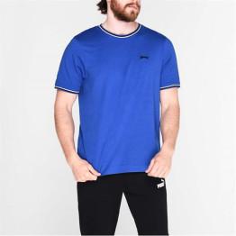 Slazenger Tipped férfi kerek nyakú pamut póló